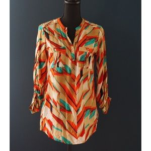 Stylish Calvin Klein blouse with colorful pattern